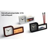 Clock With Pen Holders