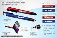 4 in 1 Pen With Logo Highlight Stylus and Mobile Stand