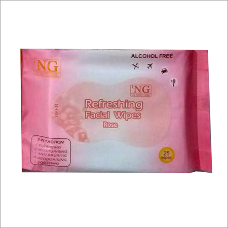 Rose Refreshing Facial Wipe