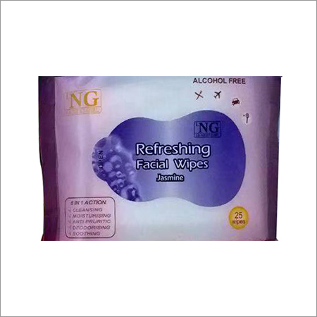 Jasmine Refreshing Facial Wipe