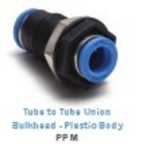 Tube to Tube Union Bulkhead - Plastic Body