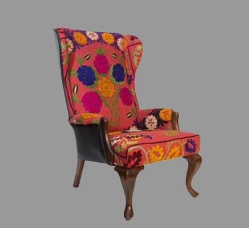 Teakwood Wing Chair