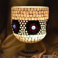 Mosaic Hurricane Shape Glass Candle Holder