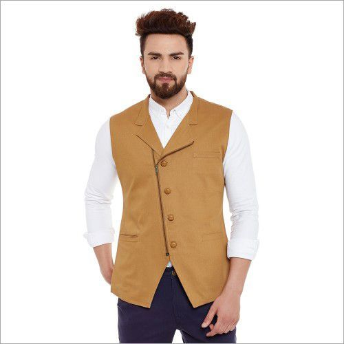 Hypernation Solid Men Waistcoat