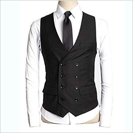 Black Korean Design Waistcoat