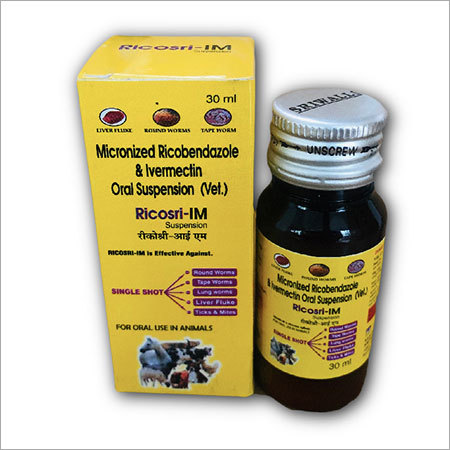 Ricobendazole & Ivermectin Veterinary Liquid 30 ML