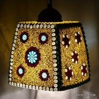 SQUIRE SHAPE GLASS MOSAIC HANGING LAMP