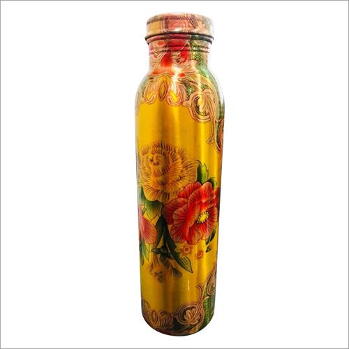 Floral Printed Copper Bottle