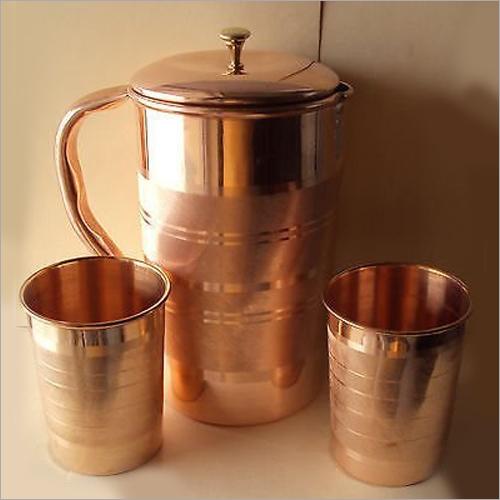 Antique Copper Jug set