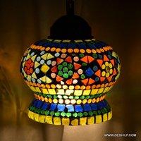 Mosaic Handmade Glass Wall Hanging Lamp