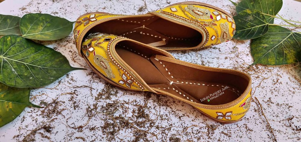 Yellow Punjabi Jutti For Ladies Beaded Shoes Handmade Jutti Online Jutti Shoes Jutti Manufacturer