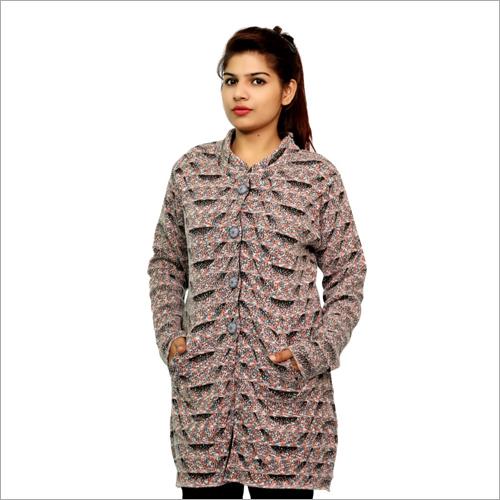 Ladies Cardigan Woolen Coat
