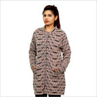 Ladies Cardigan Woolen Coat
