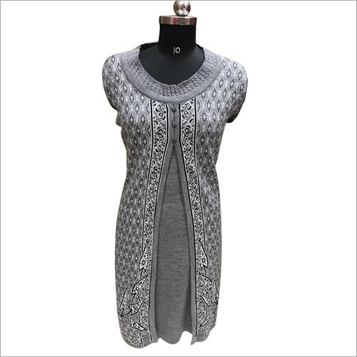 Ladies Designer Front Slit Woolen Kurti