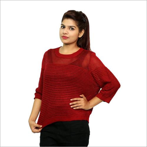 Ladies Red Woolen Top
