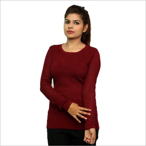 Ladies Full Sleeve Woolen Top