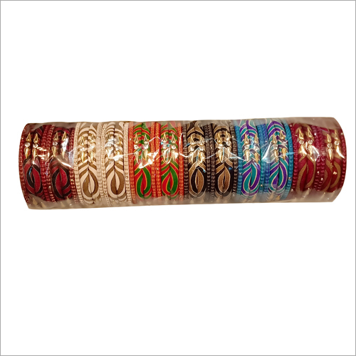 Ladies Printed Slik Thread Bangles Set