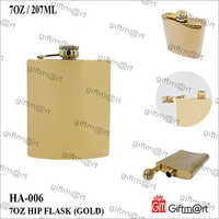 7 OZ Golden Hip Flask