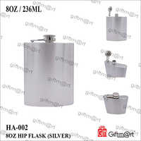 8 OZ Steel Hip Flask