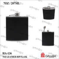 7 OZ Leather HIP Flask