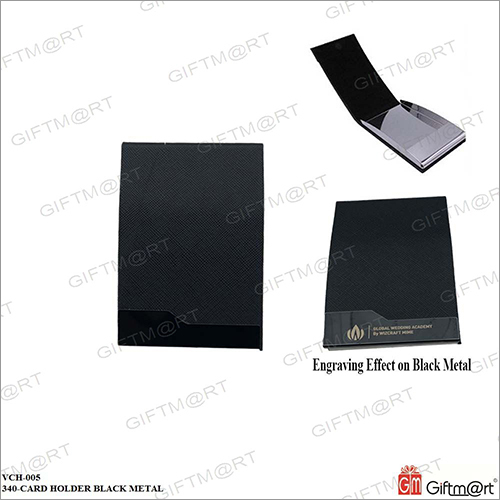 Black Metal Card Holder