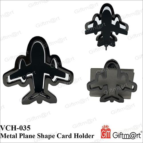 Metal Plane Shape Card Holder