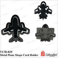 Metal Plane Shape Card Holder