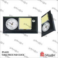 Leatherette Table Clock With Stick Pad