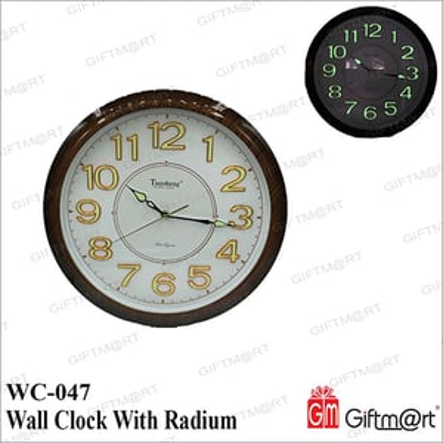 Wall Clock With Radium