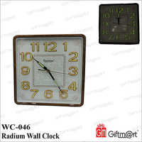Radium Wall Clock