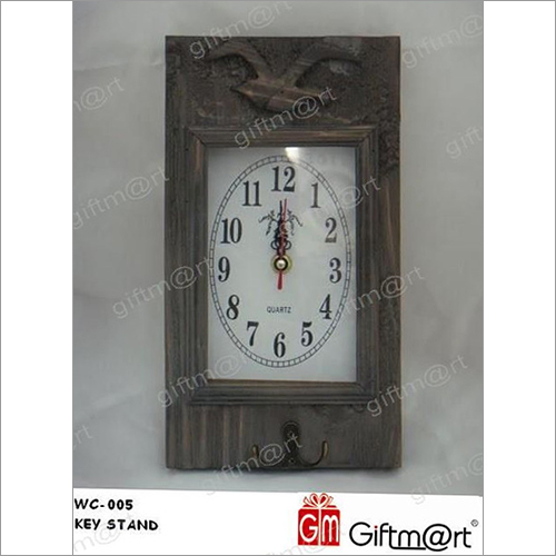 Key Stand Wall Clock