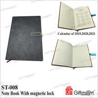 Note Book with Magnetic lock