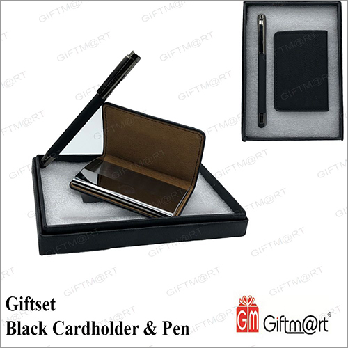 Black Cardholder With Pen