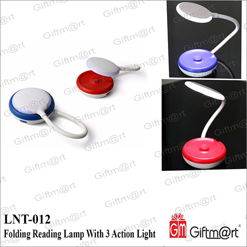 Folding Reading Lamp Wih 3 Action Light
