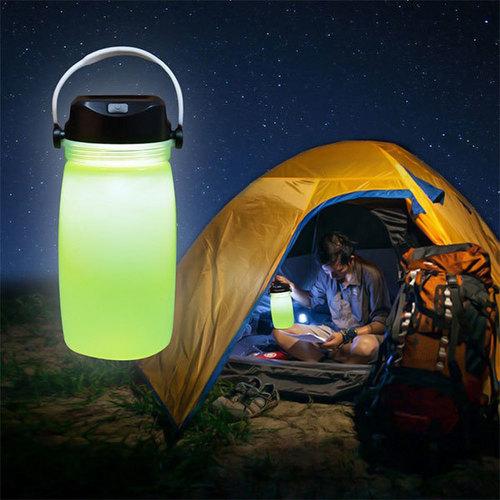 5 In 1 Solar Campaign Lamp Body Material: Silicon