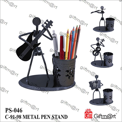 Black Metal Pen Holder