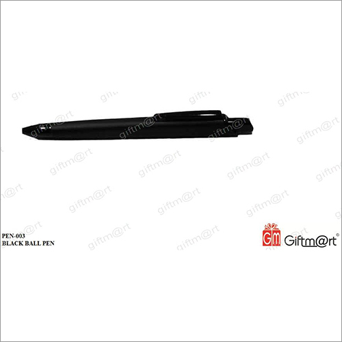 Black Plastic Ball Pen