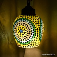 YELLOW COLOR MOSAIC GLASS WALL HANGING