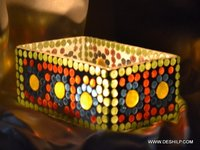 GLASS MOSAIC T LIGHT CANDLE HOLDER