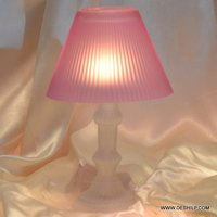 GLASS DECOR ANTIQUE TABLE LAMP