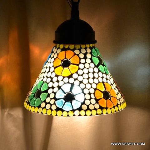 SMALL GLASS MOSAIC WALL LAMP