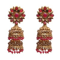 Red Color Metal Jhumki Fashion Earing For Women …