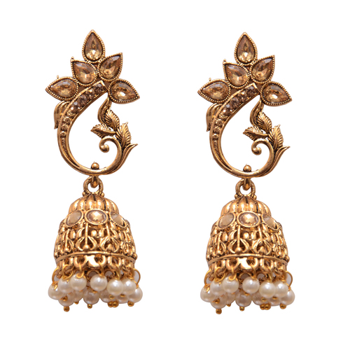 Yellow Metal Jhumki Fashion Earing For Women …