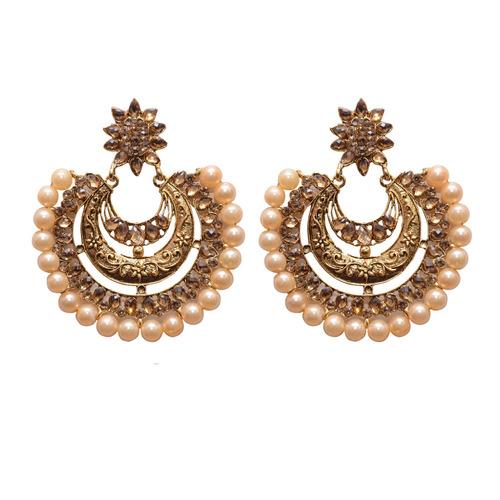 White Metal Dangle & Drop Fashion Earring For Women