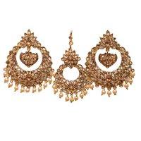 Yellow Metal Hoop Fashion Earring For Women …