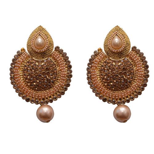 Yellow Metal Dangle & Drop Fashion Earring For Women