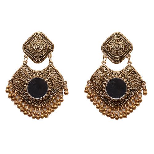 Black Metal Dangle & Drop Fashion Earring For Women