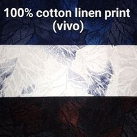 Cotton Linen Printed Fabric