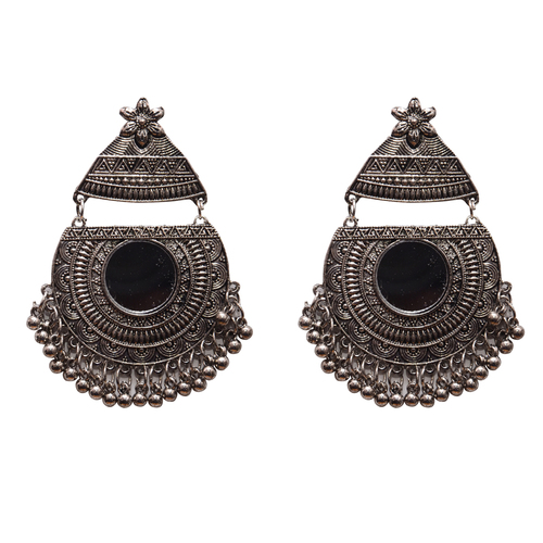 Black Metal Dangle & Drop Fashion Earring For Women