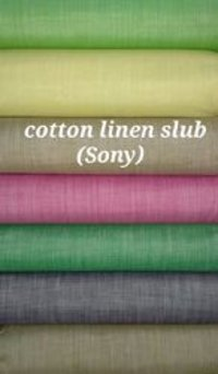 Cotton Linen Slub Shirting Fabric